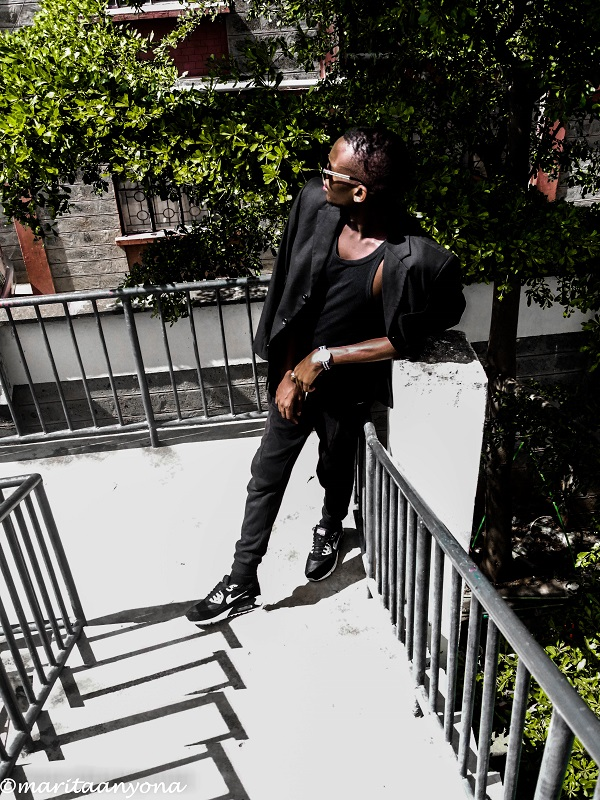 Black On Black Look 1 | Monochrome | Fred Anyona