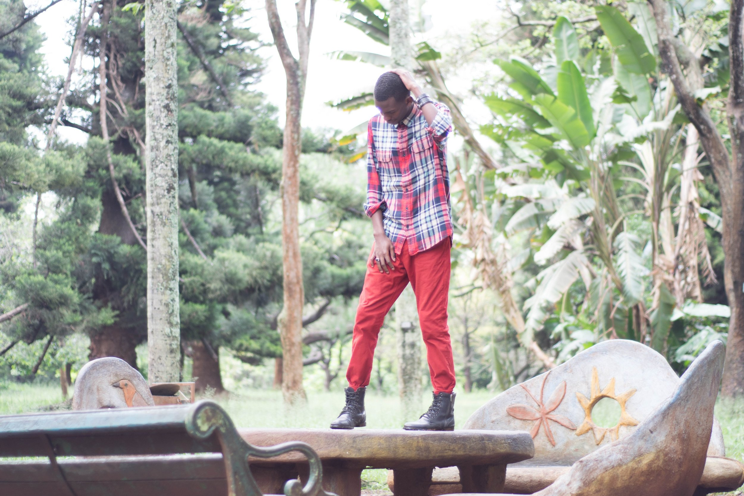 FALL LOOKBOOK | PLAID SHIRT AND COLORED CHINOS| BY FRED ANYONA | SO YOU LIKE FASHION