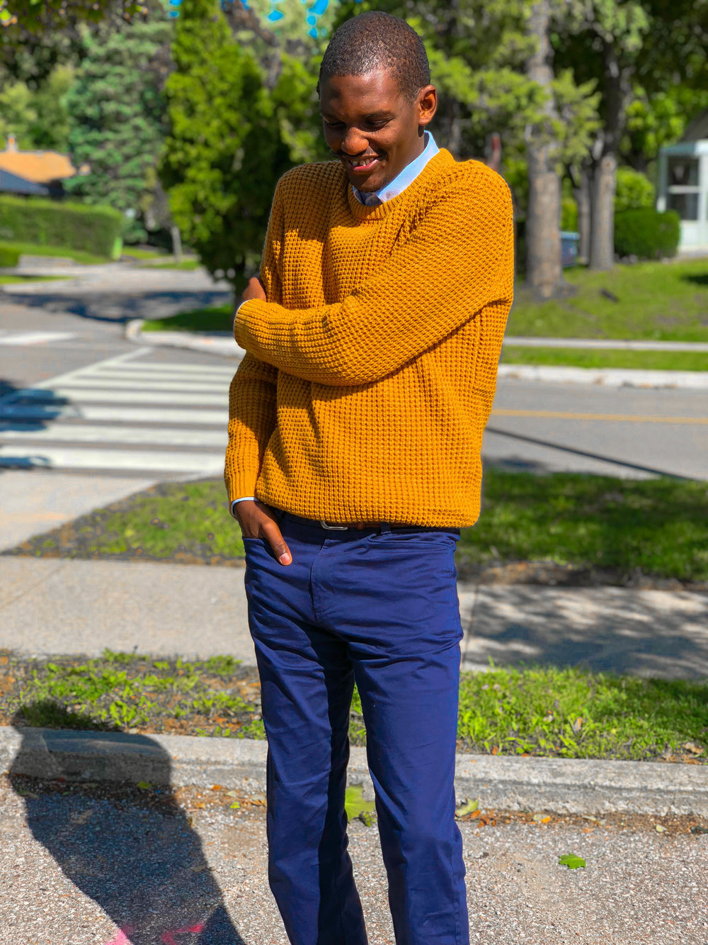 how to wear mustard yellow this fall by Fred Anyona 2