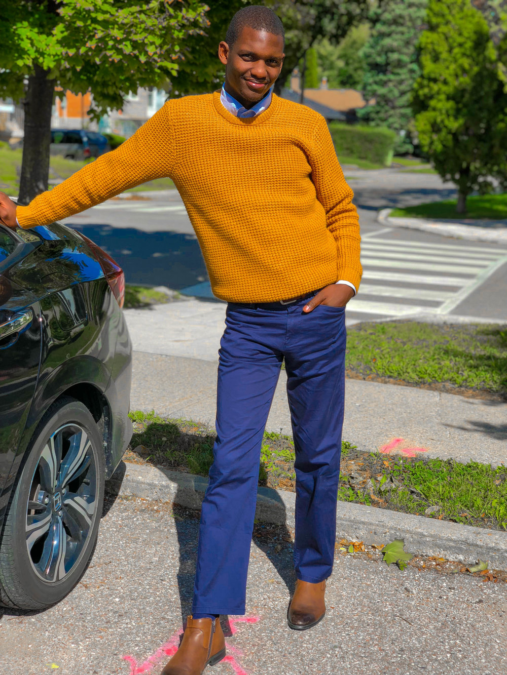 how to wear mustard yellow this fall by Fred Anyona 1