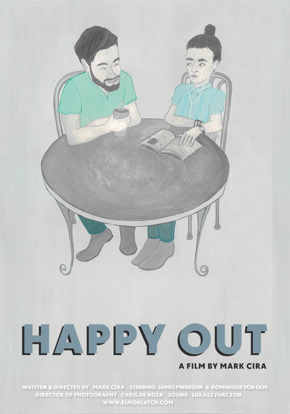 Client: Mark Cira, Filmmaker   'Happy Out' movie poster, 2014