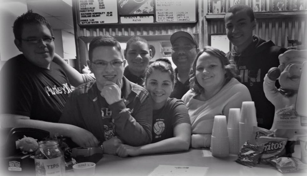 Our family and the beginning of our restaurant journey! June 2012:)