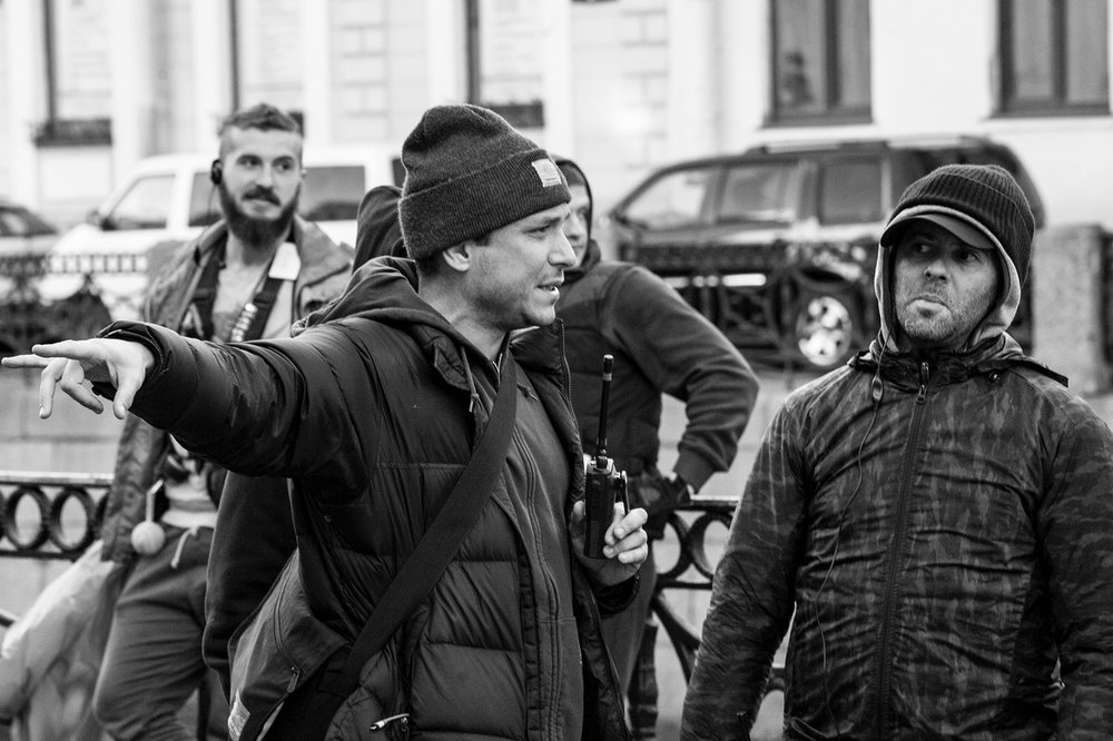 SIBERIA director Matthew Ross and cinematographer Eric Koretz on location in St. Petersburg