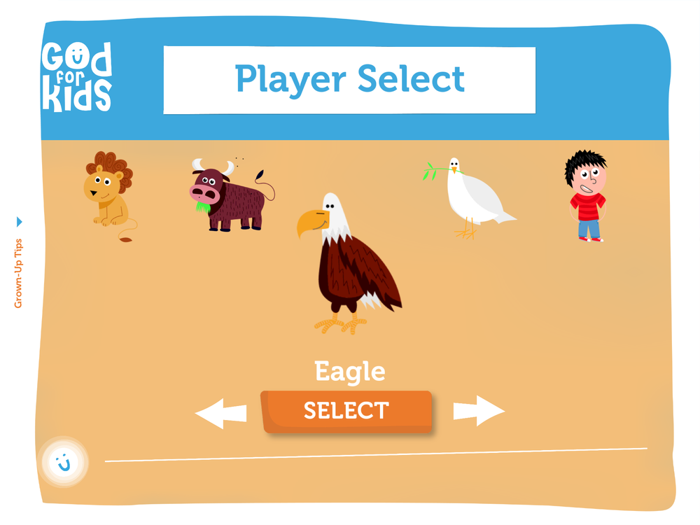 1. Choose your character... - There are 7 characters to choose from. That means up to 7 different children can play and their individual progress is saved. You get to name your character too...