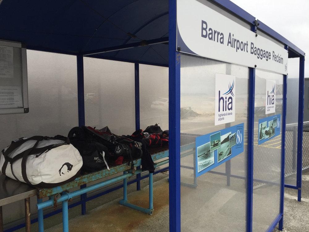 Baggage reclaim Barra-style