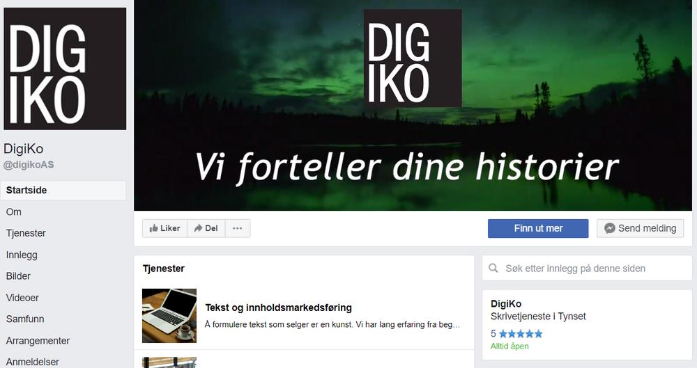 Facebook | Apper | Landingssider | DigiKo