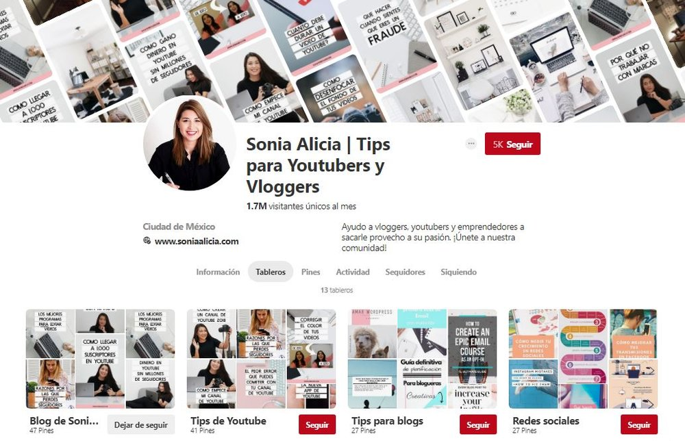 Blog de Sonia Alicia en Pinterest