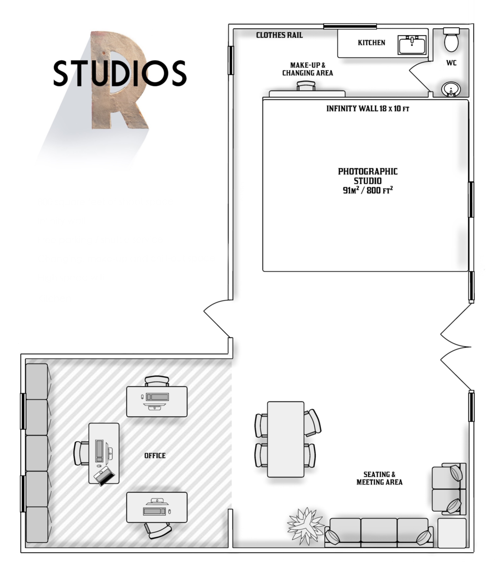 EVERYTHING YOU NEED FOR A GREAT SHOOT - Fully Equipped PHOTOGRAPHY STUDIO1,200 Sq ftinfinity wallCOLORAMAworkspaceschill-out areafree parkingREFRESHMENTS