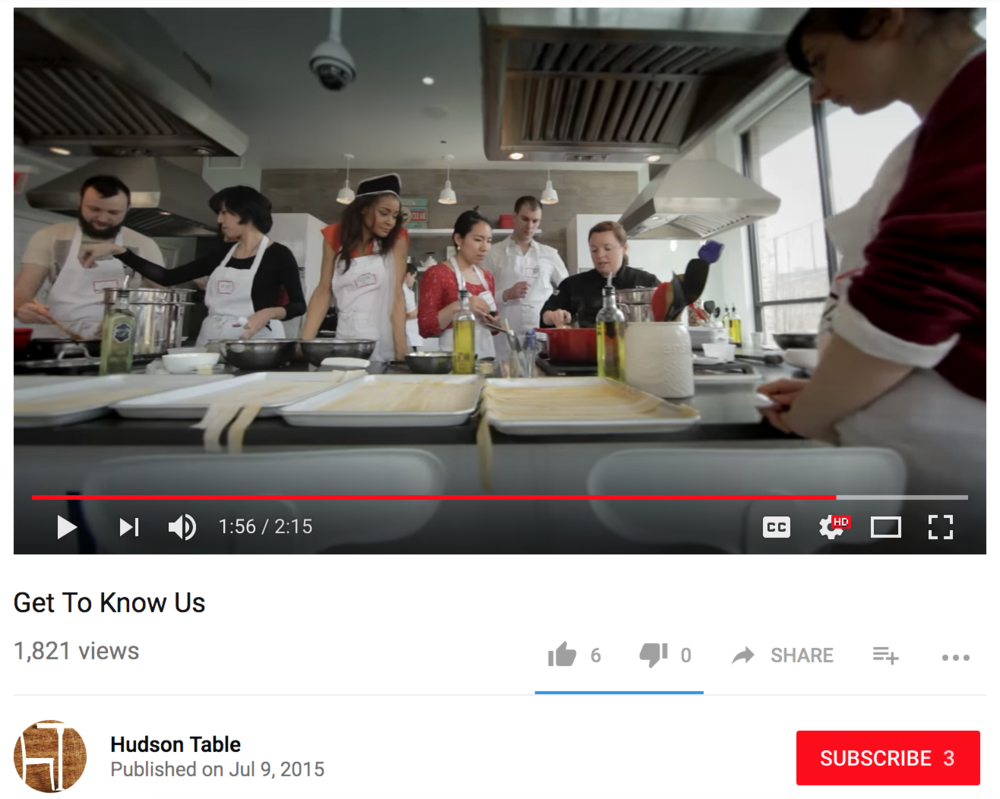 Culinary Teaching Video - Hudson Table Culinary Studio