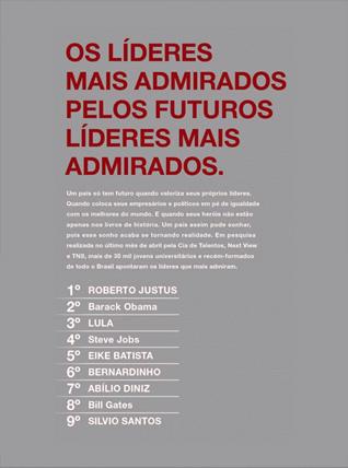 Líder mais admirado - 2010 | A 9ª edição da Pesquisa Empresas dos Sonhos dos Jovens, realizada pelo Grupo DMRH, maior consultoria da América Latina na área de seleção e desenvolvimento de jovens para programas de estágios, trainees e MBA, em parceria com a TNS Research International, empresa global de pesquisa de mercado, apontou o CEO do Grupo Newcomm, Roberto Justus, como o Líder mais Admirado pelos jovens brasileiros. Entre os 10 líderes citados espontaneamente na pesquisa, além de Roberto Justus, estão Barack Obama, Lula, Steve Jobs, Eike Batista, Bernardinho, Abílio Diniz, Bill Gates e Silvio Santos.