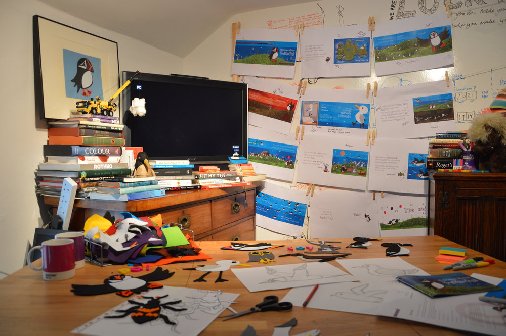The chaos in our 'ideas room' before shooting our Kickstarter video