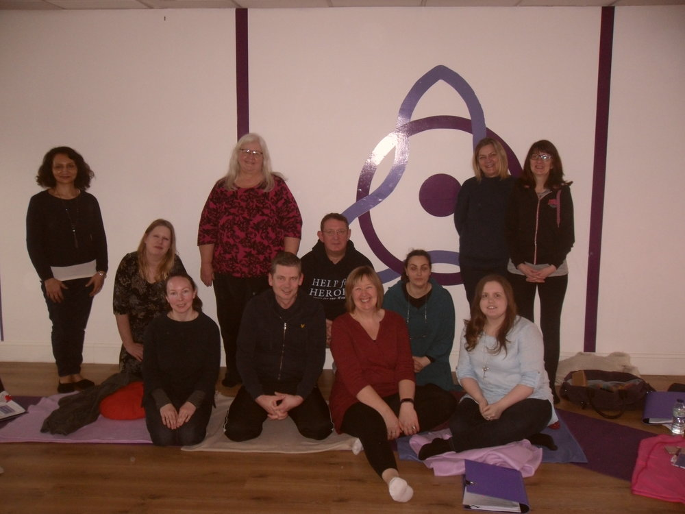 Participants on the 8 week Mindfulness course