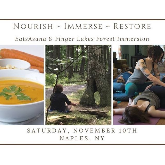 🎉Our first event is open to the public! Join us! Sign up by today for a half-day retreat November 10th at Shimmering Light Farm in Naples, NY. ▪️ Join a group of new friends to experience a nourishing locally- sourced lunch, a guided forest walk called Forest Bathing), followed by a cozy restorative low key yoga practice. ▪️All are welcome sign up here https://bit.ly/2P4RCSc or go to @consciouswellnessroc events to check it out. ▪️ #togetherwenourish #friendsyogafood #rocfood #rochesteryoga #restorativeyoga #rocfoodie #forestbathing #friendsyogafood