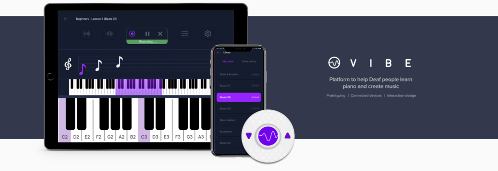 PLATFORM TO HELP DEAF PEOPLE LEARN PIANO AND CREATE MUSIC