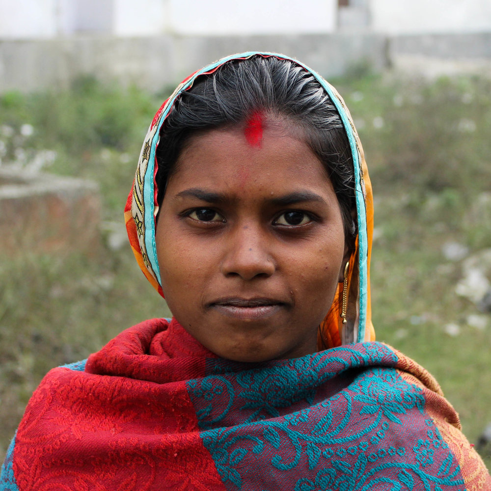 Anaya - Anaya is 30 years old and at risk of human trafficking. Residing in Bihar, India, she is an orphan born into the SC caste, a historically disadvantaged indigenous people group. Married with four children ages 2 to 5, her family's average household income is about $2.50 a day. Anaya is illiterate with major barriers to finding work.