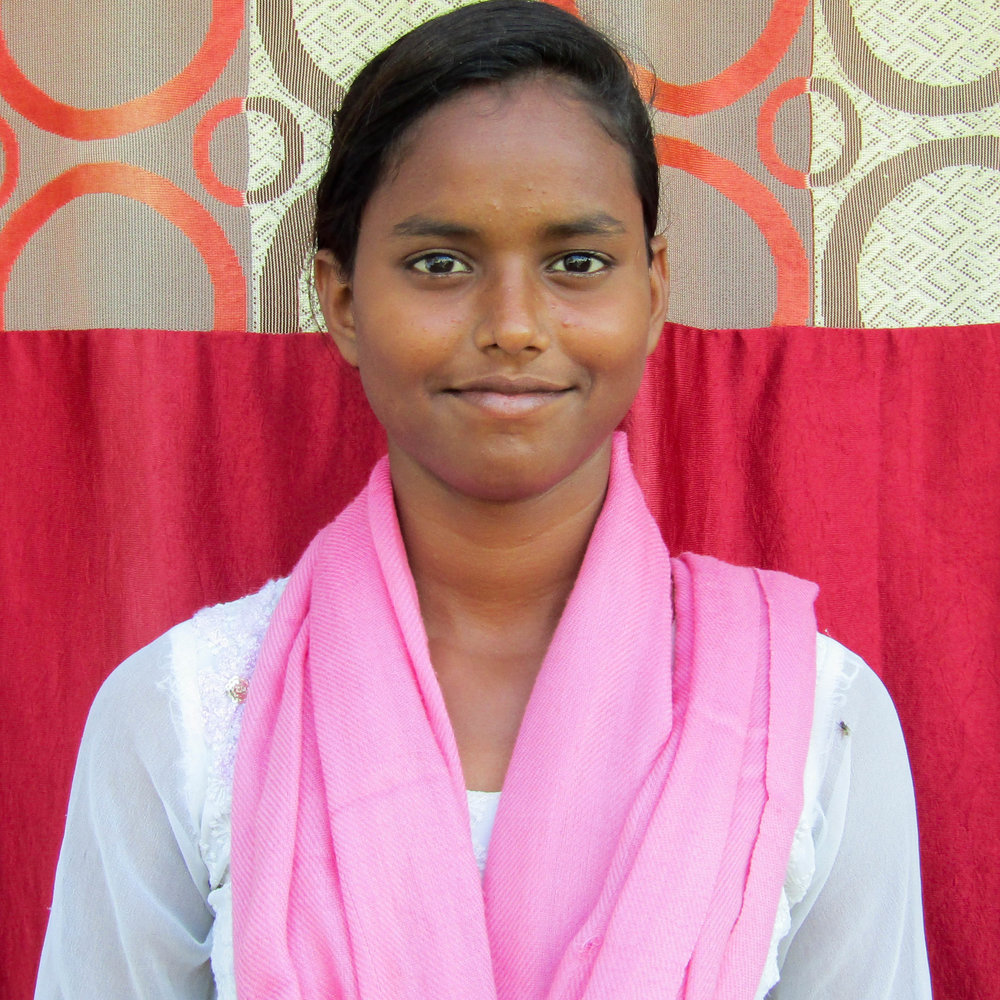 Tumpa - Keya is 25 years old and at risk of human trafficking. Residing in Bihar, India, she was born into the SC caste, a historically disadvantaged indigenous people group. Married with two children ages 2 and 4, her family's average household income is about $1.50 a day. Keya is illiterate with major barriers to finding work.