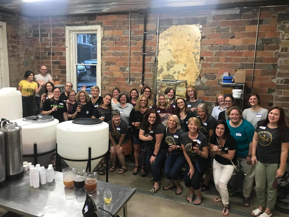 Spring Hill Brewing hosting a Pittsburgh Beer Ladies happy hour, tasting and tour. Thanks PBL for coming by! These ladies are so great!