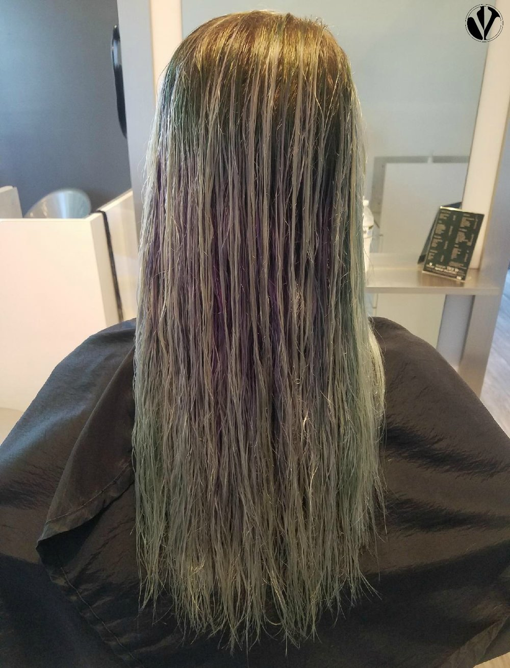 Back to Blonde - This client wants to go from her Mermaid Hair back to her natural blonde
