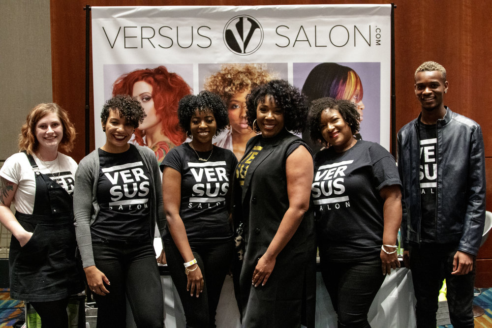 Some of Team Versus and our Lovely Models at the VA Natural Beauty Expo in Richmond, October 2018