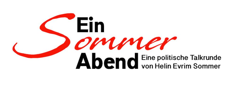 Ein Sommer Abend Logo - Eine Talkende von Helen Evrim Sommer