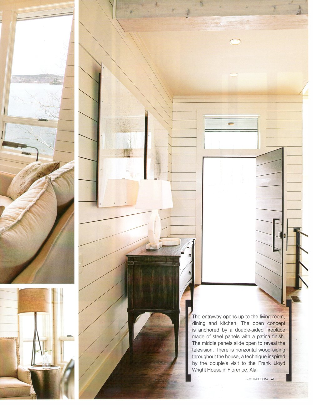 B-metro Magazine 2013 page 6 lake living architecture exterior and interior design Alabama