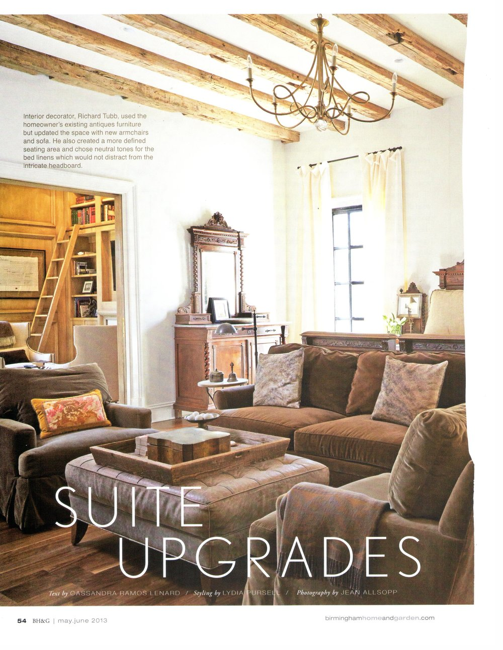 B'Ham Home & Garden Suite Upgrade magazine page 2 architecture exterior and interior design Alabama
