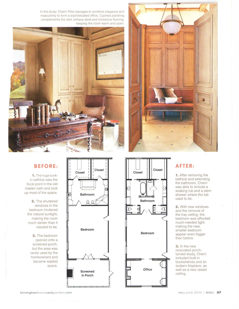 B'Ham Home & Garden Suite Upgrade magazine page 4 architecture exterior and interior design Alabama