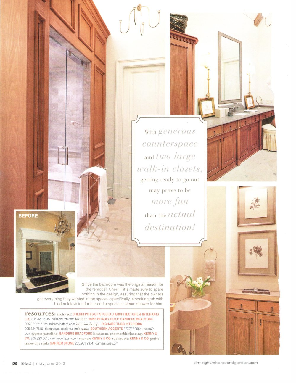 B'Ham Home & Garden Suite Upgrade magazine page 3 architecture exterior and interior design