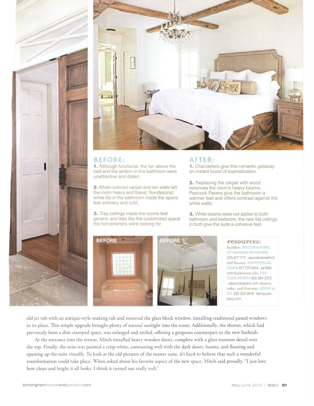 B'Ham Home & Garden Suite Upgrade magazine page 6 architecture exterior and interior design Alabama