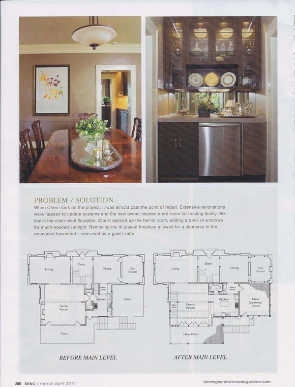 Birmingham Home & Garden 2011 Nick of Time page 5 architecture exterior and interior design Alabama