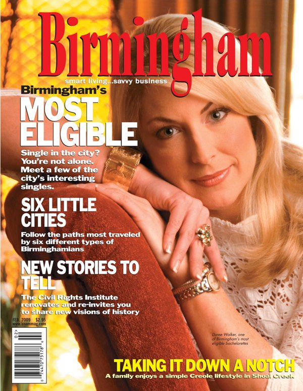 Birmingham magazine Taking It down a notch cover page 2009 architecture exterior and interiors Alabama