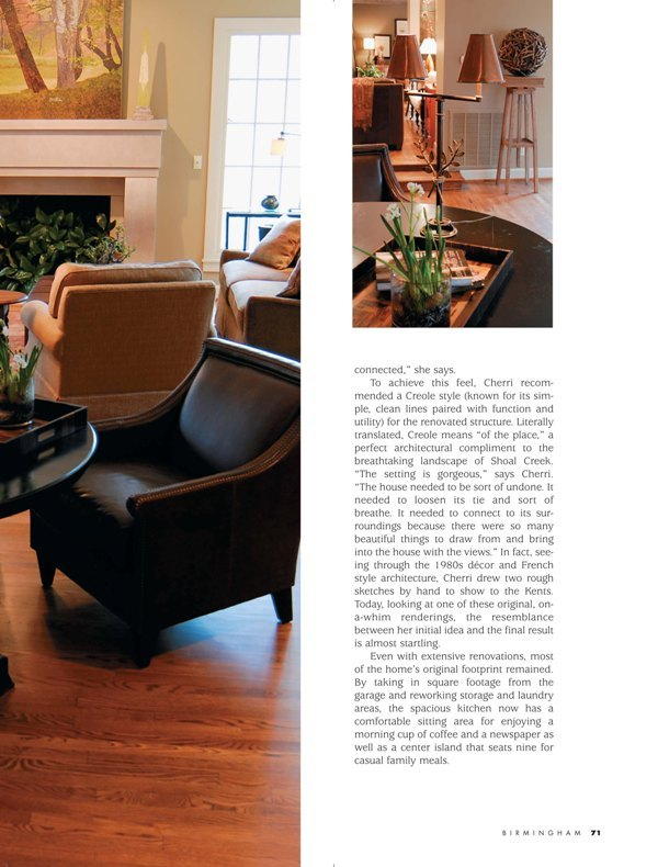 Birmingham Magazine 2009 Taking it down a notch page 4 architecture exterior and interiors Alabama