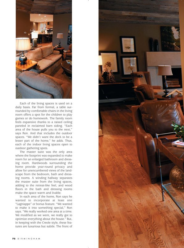 Birmingham Magazine 2009 Taking it down a notch page 5 architecture exterior and interior Alabama