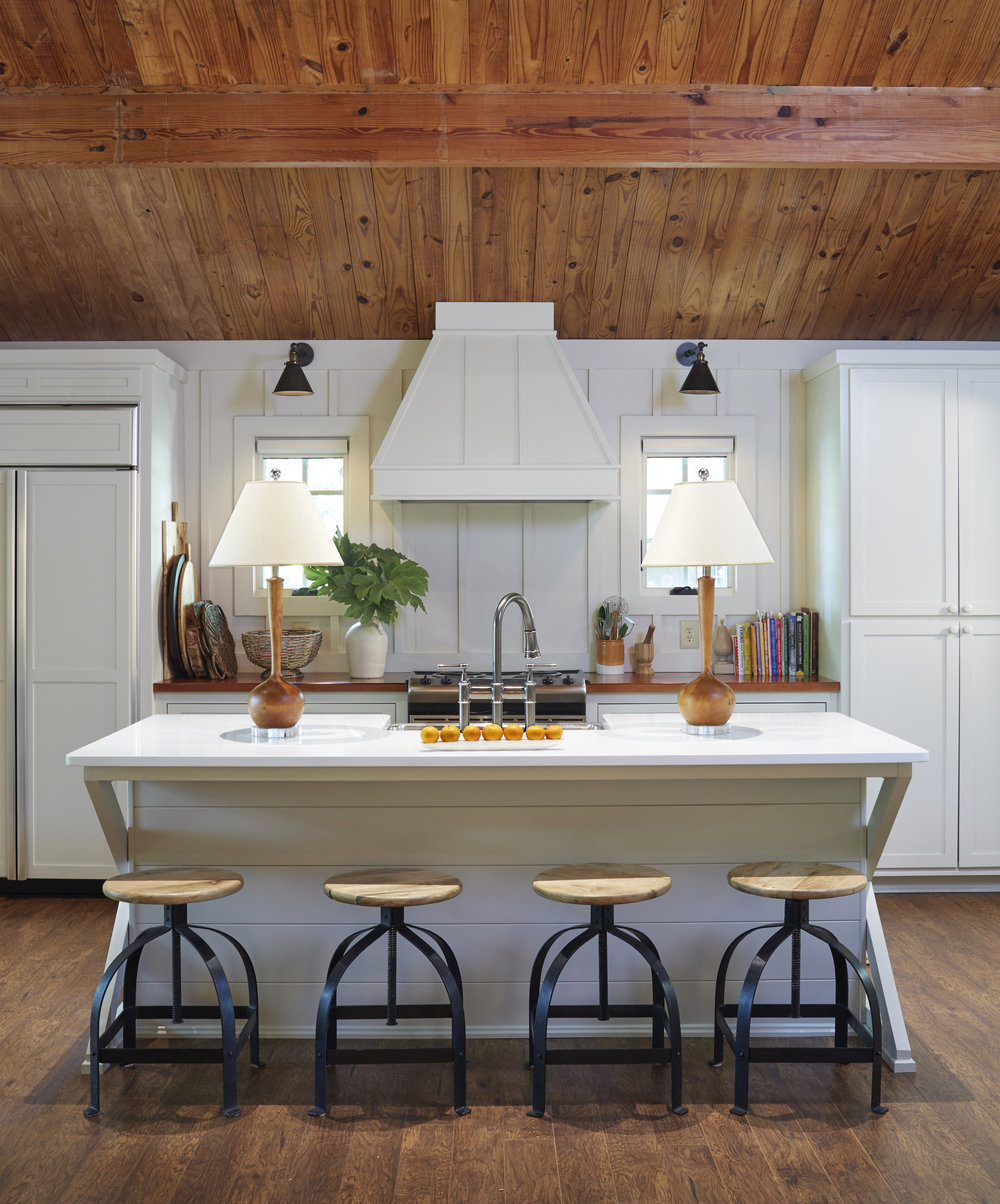 Kitchen renovation of Camp Coleman Lake House (Florence, AL) #architecture #interior #kitchen #lakeliving