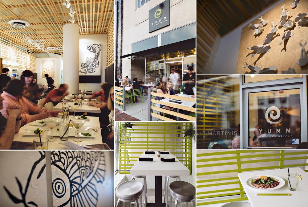 yumm sushi collage interior and exterior design architecture Alabama