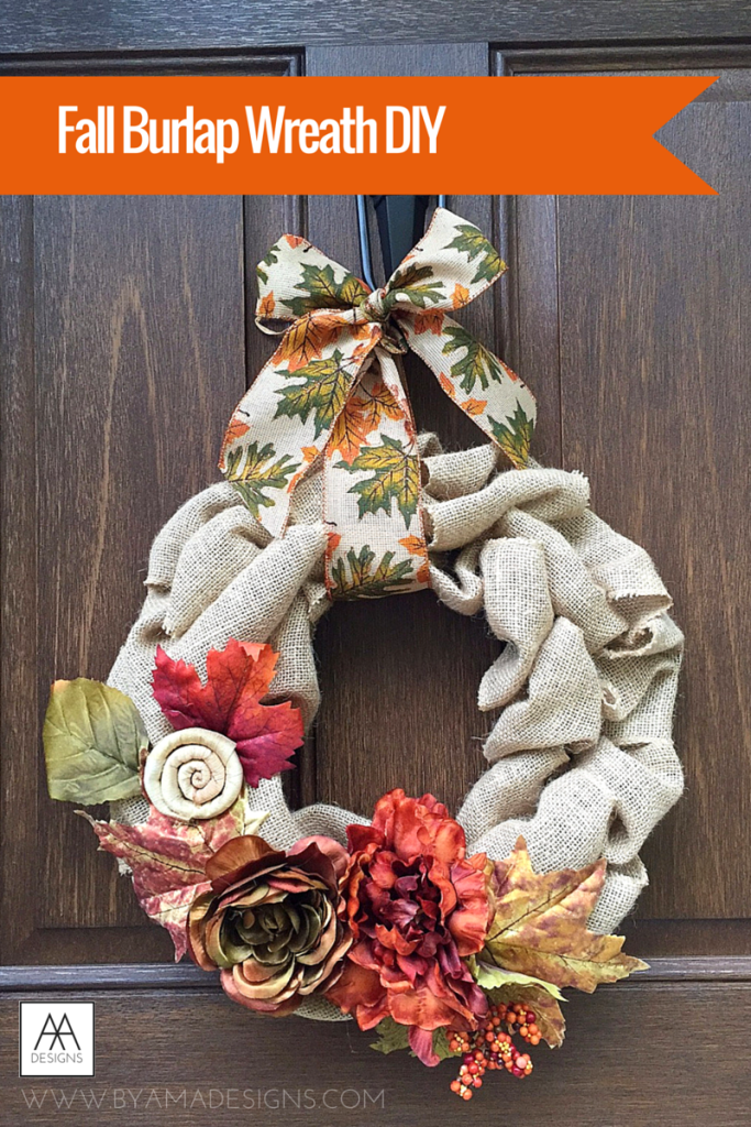Fall Burlap Wreath DIY