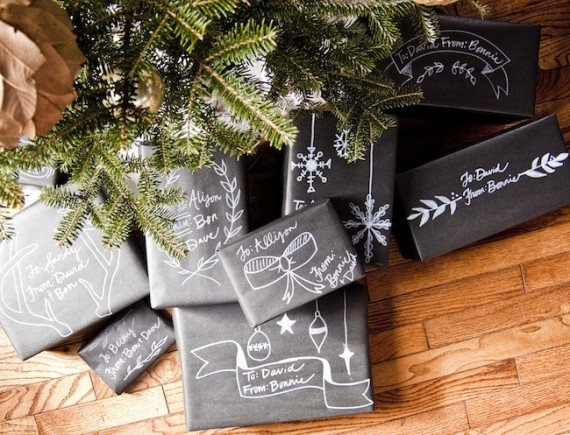 Chalkboard packaging