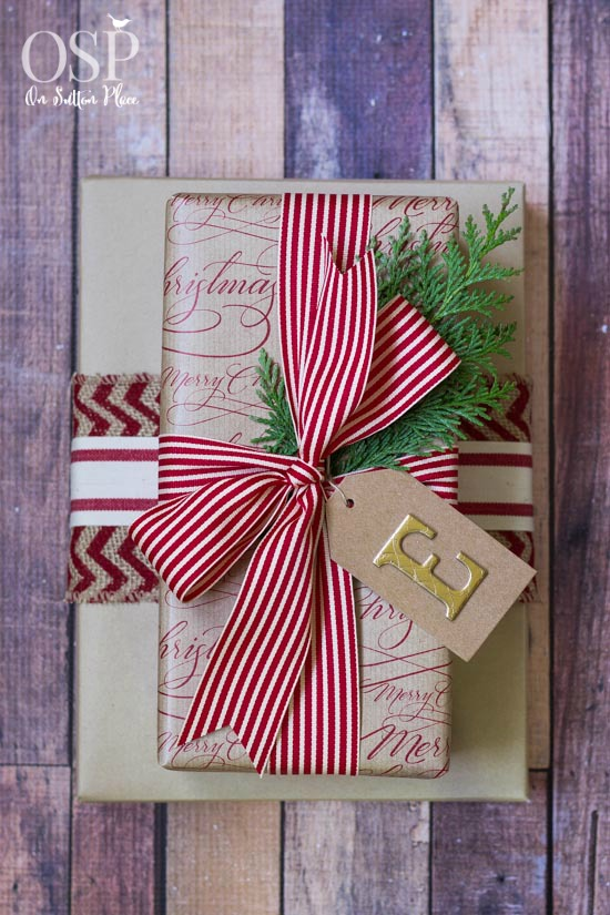 Red and White gift wrap