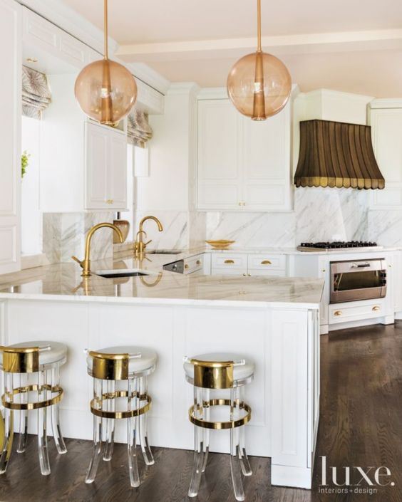 Lucite Gold Copper Kitchen