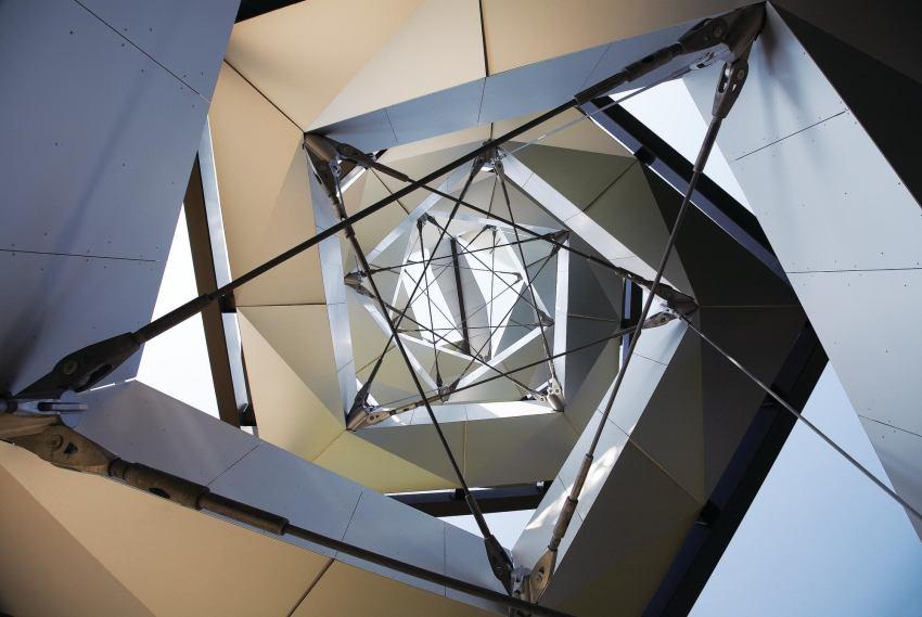 Mur Observation Tower, Gosdorf, Austria. Designed by Terrain: loenhart&mayr.