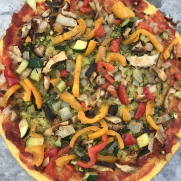 Polenta Pizza with Veggies