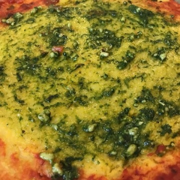 Polenta Pizza with Pesto