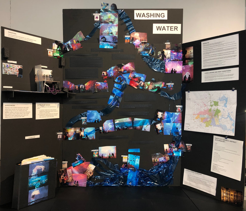 washing water science fair trifold