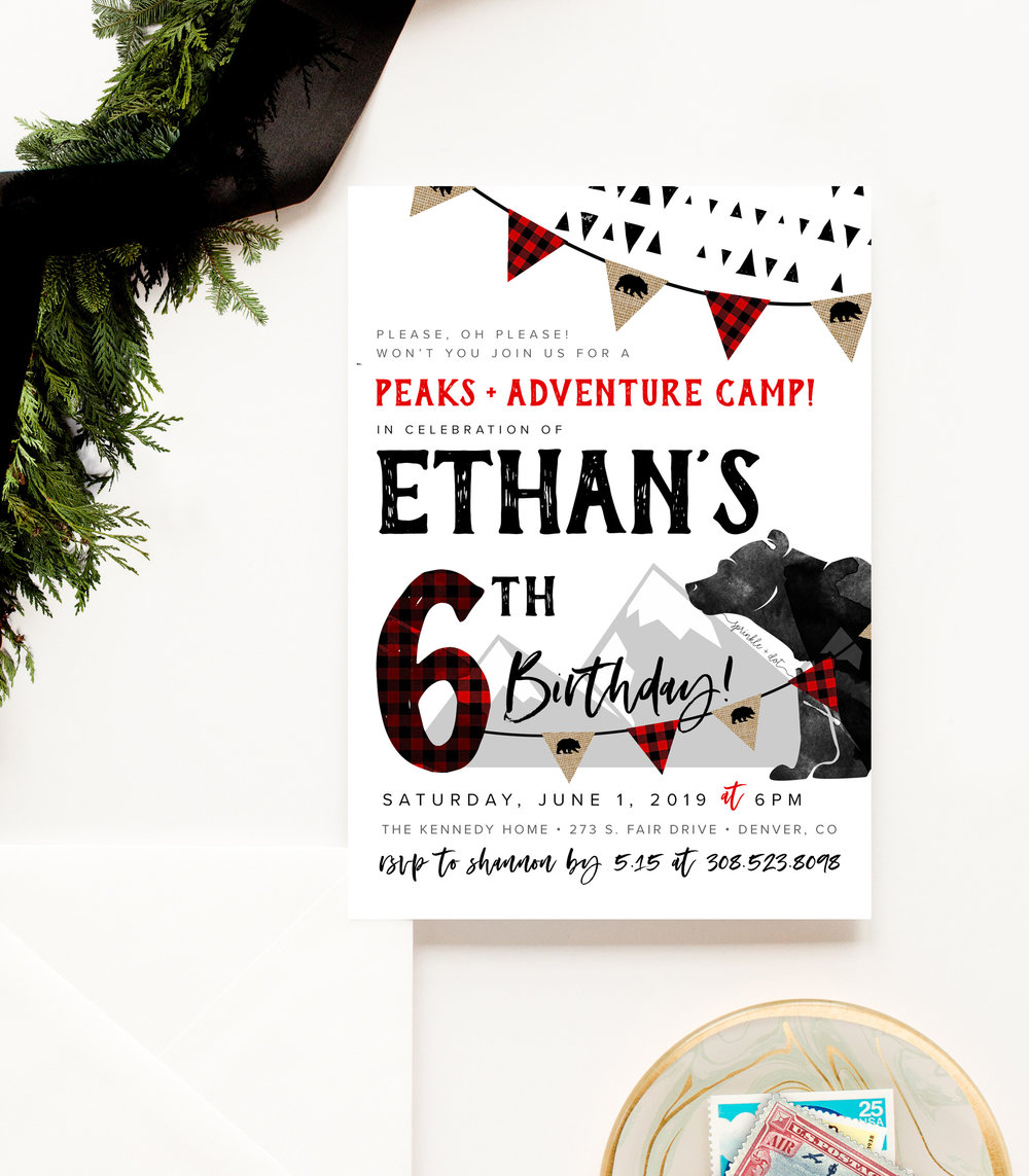 BEST VALUE: custom printed invitations + art print |  $65