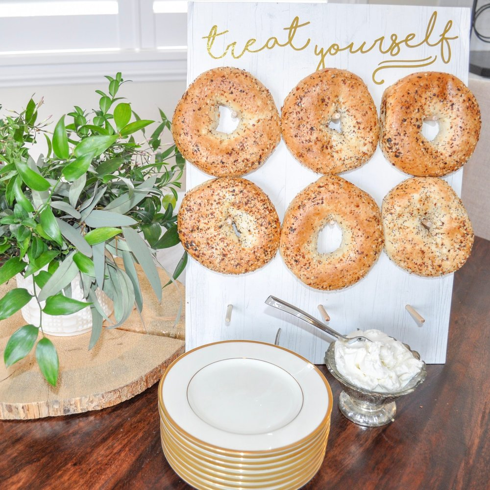 dozen bagels and bagel wall rental  |  $24