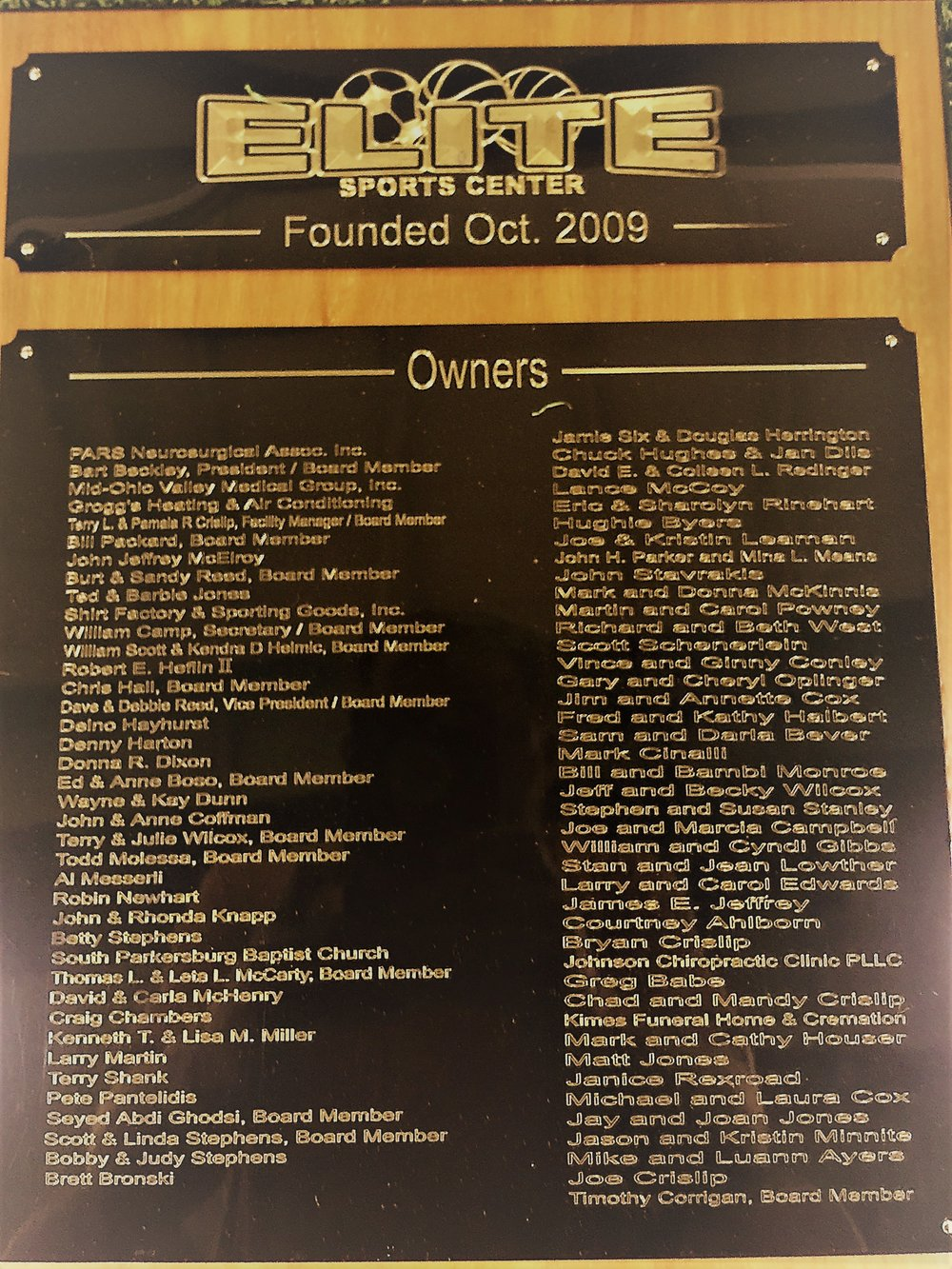 Elite Owners Plaque.JPG