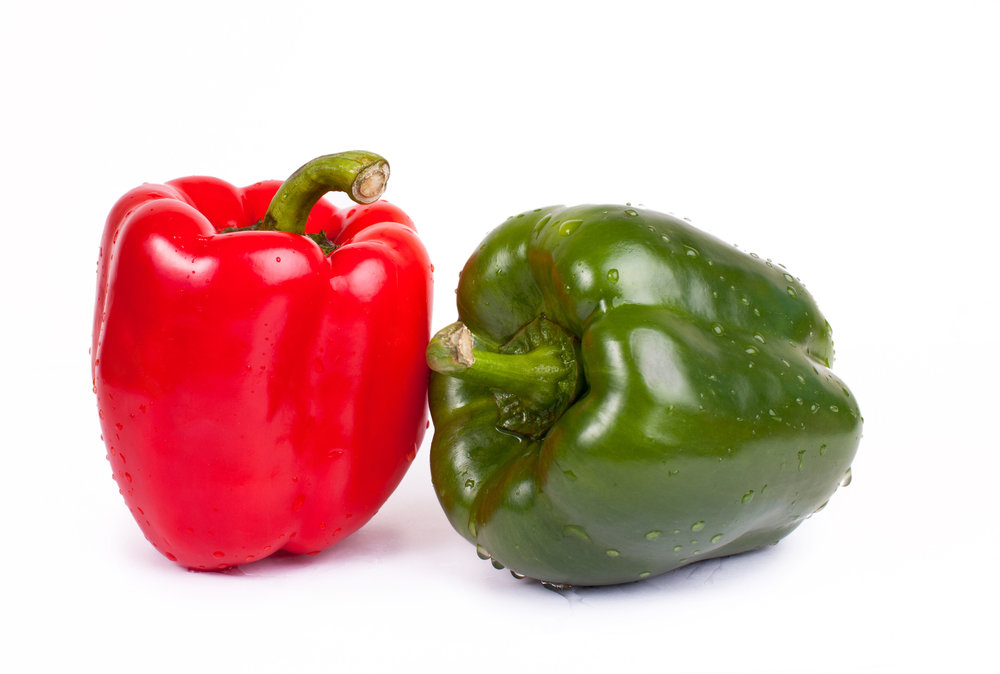 Red and Green Bell Peppers