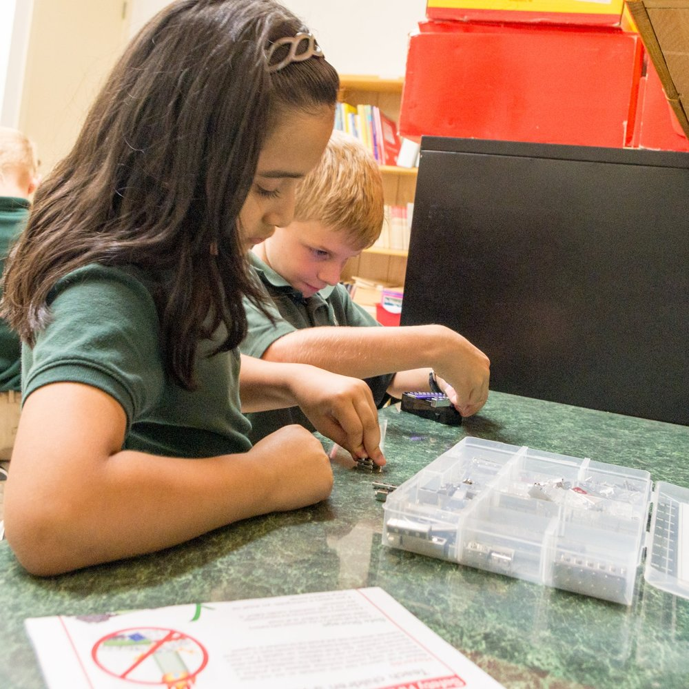Makerspace - With a wide variety of kits and activities, students learn about robotics, coding, circuitry, engineering, 3D printing, and much more. Examples of makerspace activities can be found on makerspaces.com.