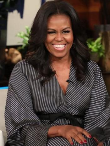Michelle Obama wearing one of her favorite designers, Zero + Maria Cornejo