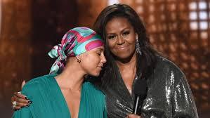 Love, love, love - Michelle Obama + Alicia Keyes at the  2019 Grammys.